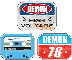 DEMON DIAMONT PLATE SNOWBOARD STOMP PADS - High Voltage