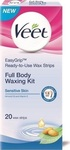 Veet Full Body Strips Sensitive Skin 20τμχ