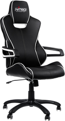 E200 Race Gaming Chair – Black-White Nitro Concepts