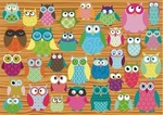 Owl Collage 500pcs (58196) Schmidt