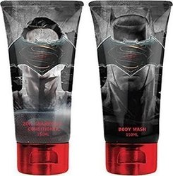 Corsair Toiletries Batman Vs Superman Duo Set 2 in 1 Shampoo/Conditioner 150ml & Body Wash 150ml
