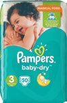 Pampers Baby Dry Magical Pods No 3 (5-9Kg) 50τμχ