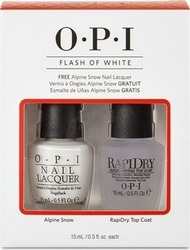 OPI Flash Of White Top Coat & Alpine Snow