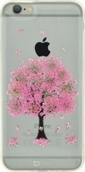 4-OK Back Cover Σιλικόνης Pink Tree (iPhone 8/7)