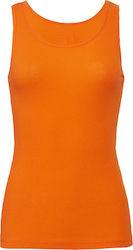 Ladies 2x1 Rib Tank Top Bella 4000 - Orange