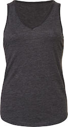 Flowy V-Neck Tank Top Bella 8805 - Dark Grey Heather