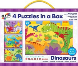 4 Puzzles in a Box - Dinosaurs 12pcs (1004735) Galt Toys