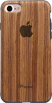 OEM Wood Back Cover Σιλικόνης (iPhone 6/6s)