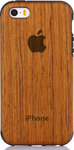 OEM Wood Back Cover Σιλικόνης (iPhone 5/5s/SE)