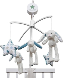 Little Dutch Music Mobile Rabbit: Mixed Stars Mint