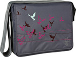 Laessig Messenger Bag Flock of Birds Ebony