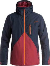 QUIKSILVER MISSION COLORBLOCK SNOW JACKET NAVY BLAZER