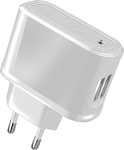 Celly 2x USB Wall Adapter Λευκό (13007027)