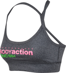 Body Action Racerback Sports Bra 041414-Grey