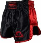 KICK BOXING SHORTS MUAY THAI MANTO VIBE - BLACK/RED