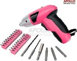 Apollo 4.8V Pink Screwdriver 600 mAh NiCad