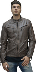 ECO LEATHER JACKET BROWN BROWN (M0008435.BW)