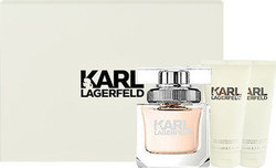 Karl Lagerfeld For Her Eau de Parfum 85ml & Body Milk 100ml & Shower Gel 100ml