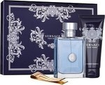 Versace Pour Homme Eau de Toilette 100ml & Shower Gel 100ml & Money Clip