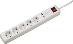 HAMA USB 3A 5-Way Power Strip 00137201