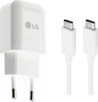 LG 1x USB Type-C Cable & Wall Adapter Λευκό (MCS-N04)