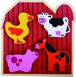 Farm Animal Puzzle 4pcs (TKS935) Tooky Toys