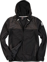 Body Action Polar Fleece Zip Hoodie 073610 Black