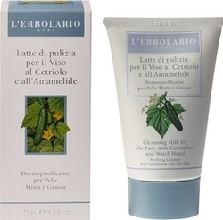 L' Erbolario Cleansing Milk for the Face with Cucumber and Witch Hazel 125ml