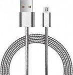 OEM Braided USB 2.0 to micro USB Cable Γκρι 1m (C7V8)