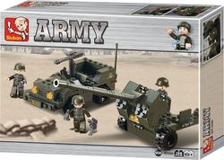 Sluban Army: Antiaircraft Flak & Jeep 138τμχ