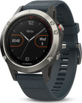 Garmin Fenix 5 (Silver with Granite Blue Band)