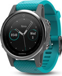 Garmin Fenix 5S (Silver with Turquoise Band)