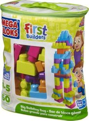 Mega Bloks First Builders: Big Building Bag (Green) 60τμχ