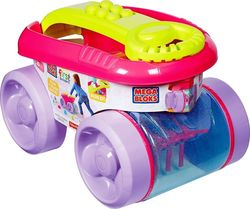 Mega Bloks First Builders: Block Scooping Wagon (Pink) 20τμχ