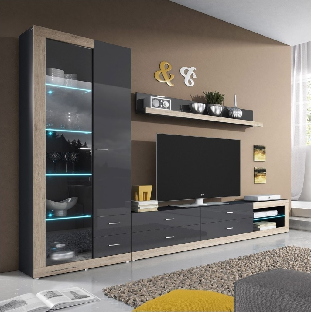 display units for living room rafael 09 270x35x180cm skroutz gr 23302