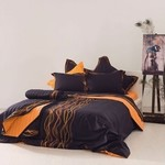 SB Concept Υπέρδιπλη Σετ Percale Collection Ribbons Orange
