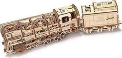 Ugears Model Steam Locomotive with Tender