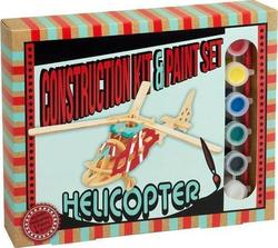 Professor Puzzle Construction & Paint Set - Helicopter