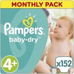 Pampers Baby Dry Monthly Pack No 4+ (9-18Kg) 152 τμχ