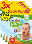 Babylino Sensitive Mega Pack Νο4 (7-18kg) 3*78 τμχ