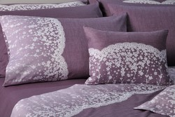 Down Town Home Κουβερλί Υπέρδιπλο Σετ Primo Lace Purple S622