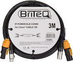 BRITEQ IP-POWER/XRL COMBICABLE 3M EANCODE: 5420025613620