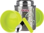 Nuby Insulated Stainless Steel Thermos Green