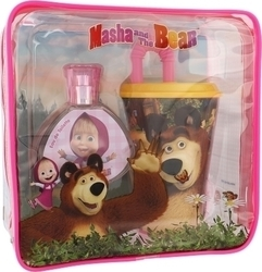 Disney Masha And The Bear Eau de Toilette 50ml & Drinking Cup & Bag