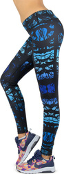 Body Action Allover Printed Fitted 011615 D.Blue