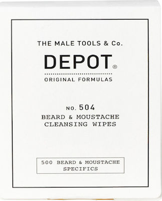 The Male Tools & Co Beard & Moustache Cleansing Wipes 1x12 τμχ