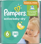 Pampers Active Baby Dry No6 (15+Kg) 30 τμχ