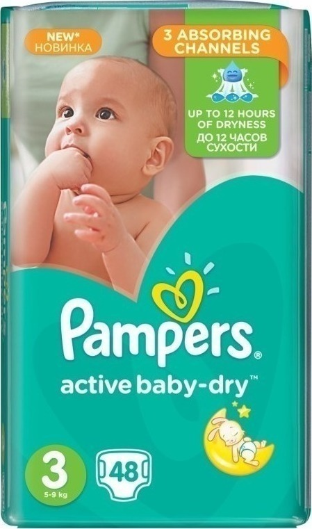 6726024e49e Pampers Active Baby Dry No3 (5-9Kg) 48 τμχ