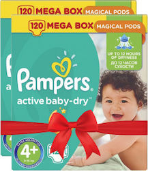 Pampers Active Baby Dry No4+ (9-16kg) 2*120τμχ