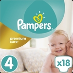 Pampers Premium Care No 4 (8-14Kg) 18τμχ